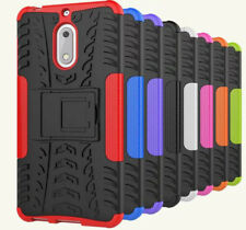 For Nokia 6 Tough Heavy Duty Strong Shockproof Case Cove + Free Screen Guard