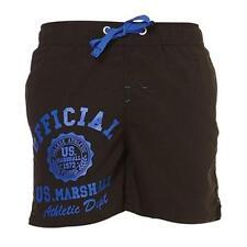 maillot de bain short caleçon US MARSHALL noir/bleu taille XL - neuf