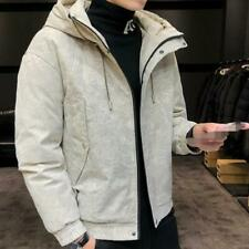 Men's Hooded Quilted Cotton Padded Jacket Outwear Thick Overcoat Warm Overcoat