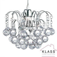 Modern Chandelier Style Ceiling Pendant Light Shade K9 Crystal Glass Shades