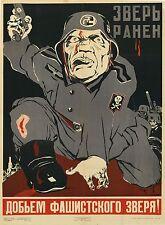 RUSSIAN SOVIET ORIGINAL WAR PROPAGANDA POSTER 1943 by D MOOR