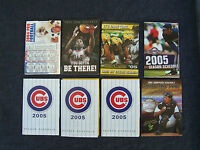 8 mid 1980s sports schedules  Cubs, Bulls, Packers, Brewers, Snappers, football
