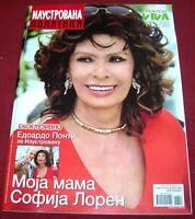 Sophia Loren - ILUSTROVANA POLITIKA - Serbian August 2014 RARE