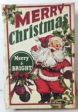 VINTAGE SANTA CHRISTMAS BOOK BOX ORNAMENT BY PEPPERMINT SQUARE