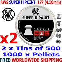 RWS SUPER H POINT .177 4.50mm Airgun Pellets 2(tins)x500pcs (HUNTING PELLETS)