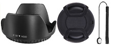 52MM Lens Hood Set w/ Lens Cap, Cap keeper f Canon EF-M 18-55mm f3.5-5.6 IS STM