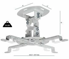 Universal Extending White Ceiling Projector Mount Height Adjustable