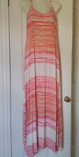 JEANSWEST Ladies Coral patterned maxi dress Size small (10)