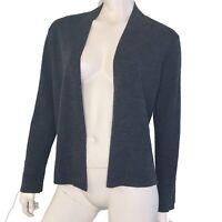 Eileen Fisher Sweater Womens Large Petite Cardigan Gray Long Sleeve Merino Wool