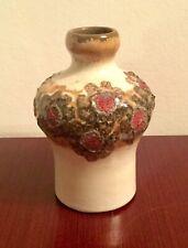DDR Keramik VEB Strehla Vase Form 1435 Cream Red East German Pottery GDR