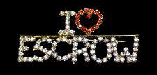 I Heart Escrow -  Crystal Jewelry Pin