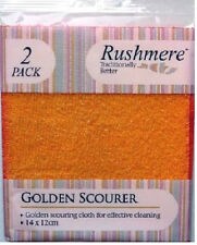Golden Scourer By Rushmere Pack Of 2 Scourers 14x12cm Golden Scouring Cloth