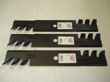"""3 Pack 46"""" 47"""" 48"""" Mower HD Mulching Blades John Deere 210 212 214 216 M41967"""