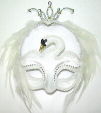 #VENETIAN WHITE SWAN EYE MASK MASQUERADE BALL OPERA FANCY DRESS OUTFIT ACCESSORY