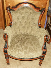 Herter Carved Walnut Parlor Chair Armchair  (AC89)