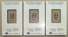 Lot of (3) Pamp Suisse .9995 Fine 1 Gram Platinum Bullion Bars