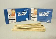 "1000 WOOD COFFEE STIRRERS 7.5"" STIR WOODEN CRAFT POPSICLE CUPCAKE STICKS"