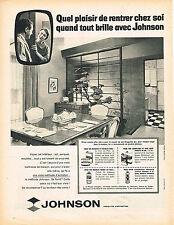 PUBLICITE ADVERTISING 034   1960    JOHNSON   produits d'entretien maison