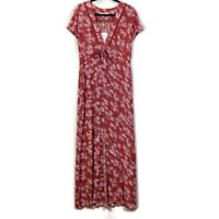 WAYF Tie Waist Maxi Dress - Burnt Coral - Small - New with Tags!