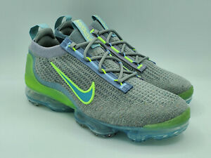Nike Air VaporMax 2021 Flyknit Grey Liquid Lime Running Shoes DH4084-003 Size 8