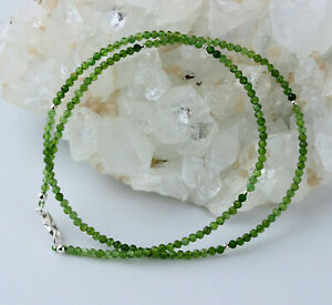 Tourmaline Green Necklace Precious Stone Color Gradient Verdelith Noble 45,5 CM