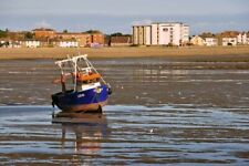 Fishing Boat on Southend on Sea Beach Essex England UK Photograph Picture Print