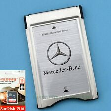 PCMCIA Multi Card Reader Adapter + SanDisk Ultra 16GB SD for Mercedes-Benz Audio