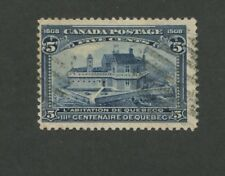 1908 Canada Champlain's Home in Quebec 5c Postage Stamp #99 Value