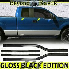2004-2014 Ford F150 4Dr Extended Super Cab GLOSS BLACK Window Sill Trims Covers