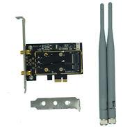 New Mini PCI-E Wireless Card To PCI-e PC Desktop WIFI WLAN CARD Express Adapter