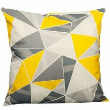 Yellow Decorative Pillows Geometric Throw Pillows Case Gray Geometric Cushion