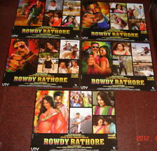 "ROWDY RATHORE AKSHAY KUMAR SONAKSHI SINHA ORIGINAL SET OF 5 LOBBY CARDS 17""X 22"""