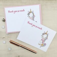 Personalised Unicorn Thank you Cards Note Cards Christmas Thank You Cards