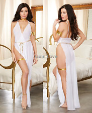 SEXY Lingerie Wedding Bridal Long Gowns Babydoll Chemise Nightie Dress+G-String