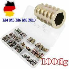 Gewindemuffe Einschraubmutter Eindrehmuffe Eindrehmutter Schlitz M4-M10 100-tlg