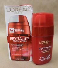 LOreal RevitaLift Double Lifting Eye Treatment in 1 Minute 0.5 fl oz Exp 01/18 +