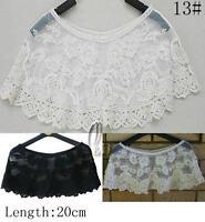 AU SELLER Bohemian Vintage Eyelet Crochet Lace Cape Shawl Top Vest t098-13