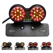 License Plate LED Brake Tail Turn Signal Light For Bobber Cafe Racer ATV Chopper