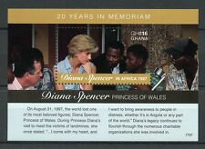 Ghana 2017 MNH Princess Diana of Wales in Africa 20th 1v S/S III Royalty Stamps