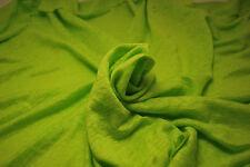 "100% Linen Jersey Knit Fabric By Yard Semi Sheer highend  ultra lime green 58"""