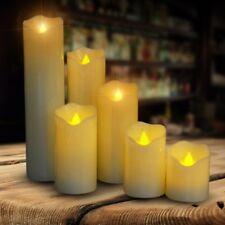 6PCS LED Candles Tealight Tea Light Flameless Flickering Wedding Battery Include