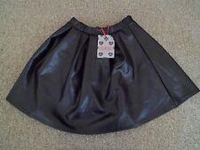 Boohoo Wet Look Black Short Skater Skirt Size 8 BNWT