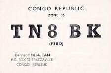 Y266 Carte QSL Radio Amateur Opérateur TN8BK de DENJEAN a BRAZZAVILLE au CONGO