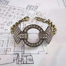 NEW Signature Anthropolo​​gie Dona Rita Rhinestone Rustic Gold Bracelet