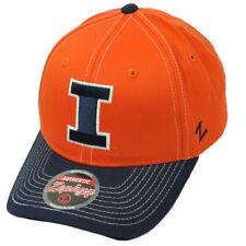 4c1c76d15f2 NCAA Zephyr Illinois Fighting Illini Orange Navy Curved Bill Hat Cap  Snapback
