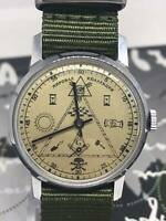 Vintage Watch Pobeda ZIM Masonic signs Mechanical Mens Soviet Wrist Watch USSR