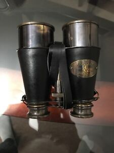 ANTIQUE BRASS BINOCULAR MARITIME VINTAGE NAUTICAL FOLDING MONOCULAR TELESCOPE