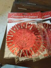 3 Christmas Foil Garland Decorations.Design as pictured