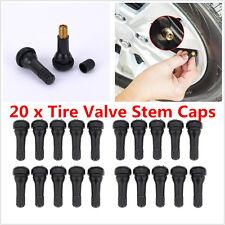 20x Car Alloy Wheel Snap In Rubber Tubeless Tyre Tire Valve Stem Dust Cap Cover