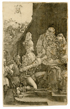 An Antique Copper Engraving By Albrect Durer Pilate Washing His Hands